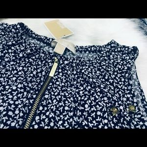 Michael Kors Dresses - 💥MICHAEL KORS💥Floral Dress in Navy Blue